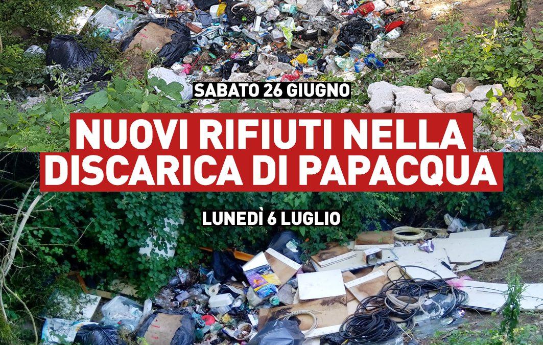 Nuovi rifiuti nella discarica di Papacqua