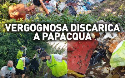 Vergognosa discarica a Papacqua