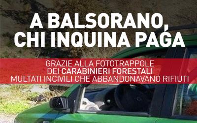 A Balsorano, chi inquina paga