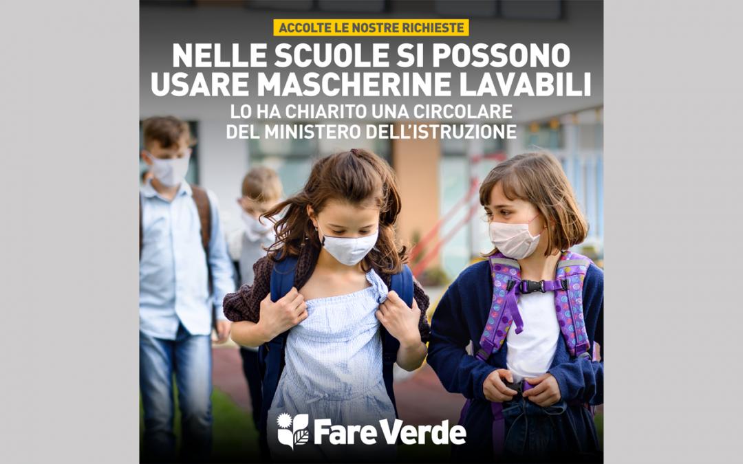 Via libera a mascherine riutilizzabili nelle scuole